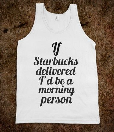 If only Starbucks delivered...