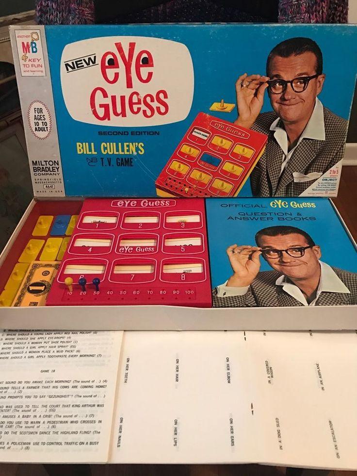 Vintage 1966 Eye Guess Bill Cullen's  board game   Milton bradley 4641 #MiltonBradley