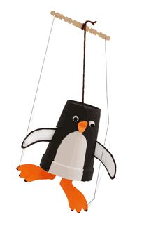 "Penguin craft puppet (danielles place) + try FUN penguin iPad game ""Penguin Second Grade"" https://itunes.apple.com/us/app/penguin-second-grade-math/id732049976?mt=8"