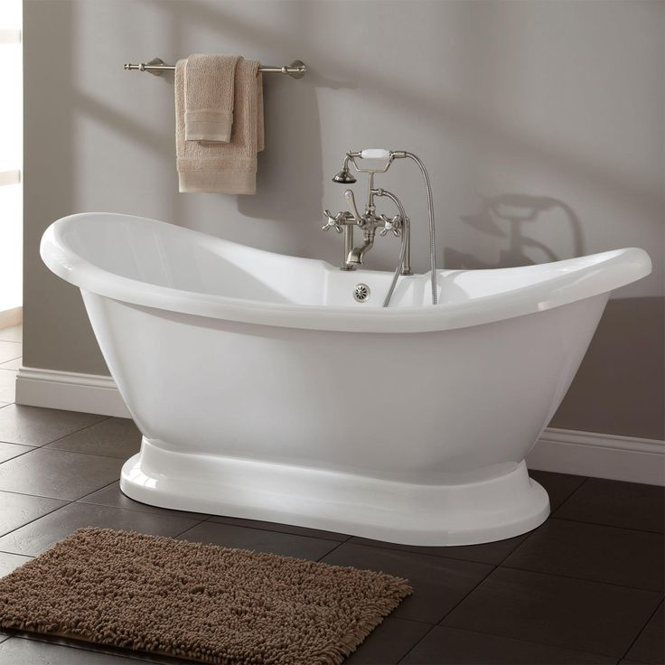 25 best ideas about soaking tubs on pinterest small for Best freestanding tub material