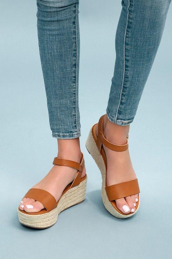 9d1bf8ca6b8 Corsa Tan Espadrille Flatform Sandals 1