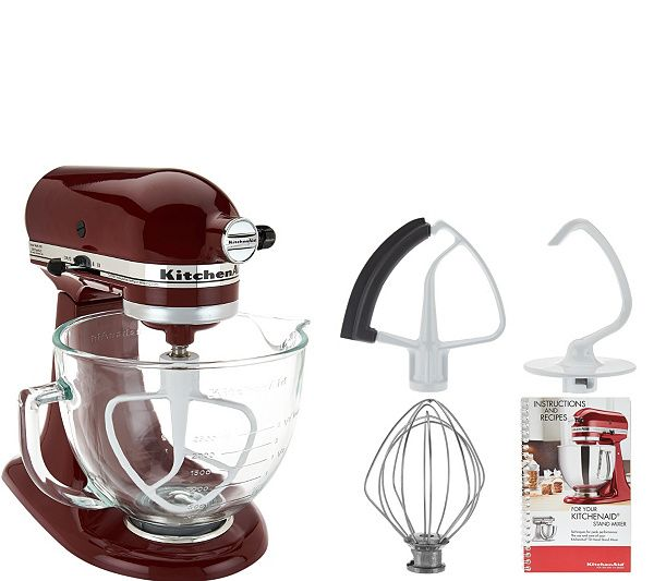 A baker's dream. This KitchenAid tilt-head stand mixer boasts a 300-watt motor to help you tackle all your favorite recipes with ease. Page 1 QVC.com