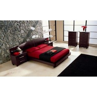 Miss Italia Platform Bed Frame with Lights on the Headboard and 2  Nightstands   Made in95 best Bedroom images on Pinterest   3 4 beds  Modern bedrooms  . Miss Italia Bedroom Set. Home Design Ideas