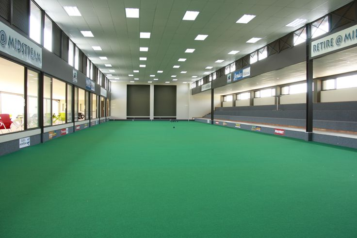 The state of the art indoor bowling facility at Midstream Estates