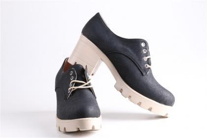 Jeny - Kadın Siyah Keten Poli Taban Rahat Günlük Ayakkabı