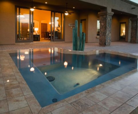 In-ground hot tubs picture