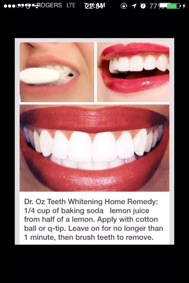 White Teeth Instantly-I found that 1 teaspoon baking soda and 1 teaspoon lemon juice is a more manageable quantity to work with