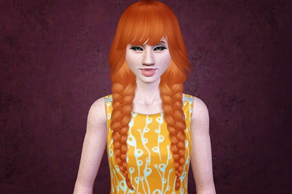 sims 3 hair download braided pigtails a classic my