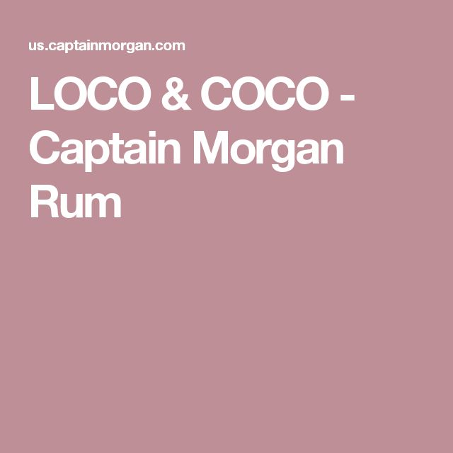 LOCO & COCO - Captain Morgan Rum