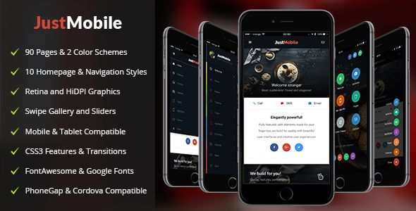 JustMobile | Mobile & Tablet Responsive Template