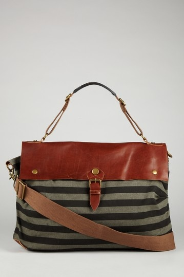 Because what I needed was yet another travel tote. Wait a minute: TAX WRITEOFF. And Lordy, at 75% off? As much as I'm on the road, I'm always wearing these damn things out anyway...: Stripey Leath Combos, Stripes L I K E, Travel Totes, Gears, Bags