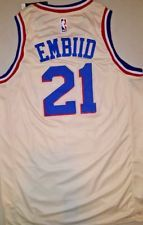 Joel Embiid Philadelphia 76ers City Edition Cream Size LARGE Basketball  Jersey 42816b23a