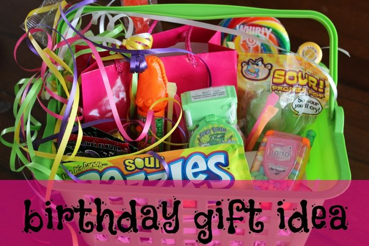 birthday gift for tween - One of our favorites that we normally fall back on, only for girls we often add things like bon bon nail polish, stickers, pens, little note pads, and lip gloss.