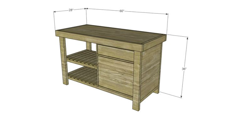 shelf, drawer, and cupboard space.. great for ppl who need quick access and great storage .. Free Plans to Build a Napa Style Inspired New American Barnwood Kitchen Island