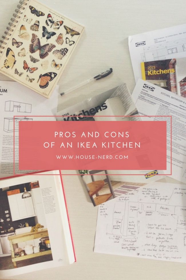the pros and cons of doing an IKEA kitchen.