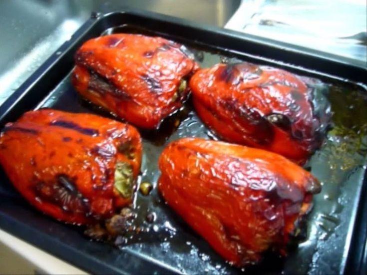 Pimientos rellenos de carne