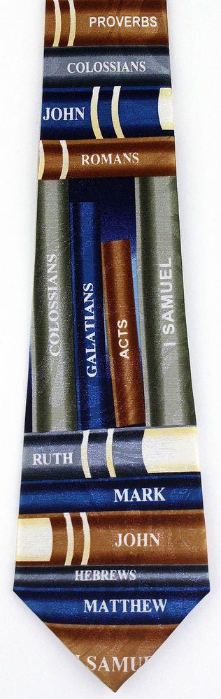 New Books Of The Bible Mens Necktie Mark John James Christian Religious Neck Tie #StevenHarris #NeckTie