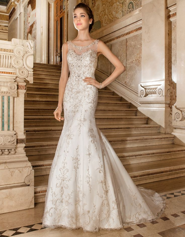 Demetrios 4326 This exquisite sleeveless elaborately beaded