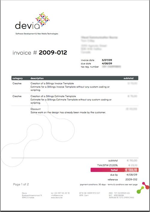 20 best Invoices inspiration images on Pinterest Creative - invoice for self employed