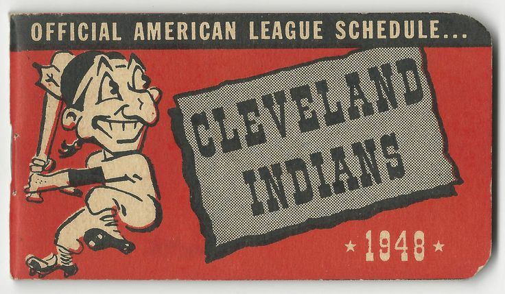 1948 Cleveland Indians American League Pocket Schedule Booklet from $39.75