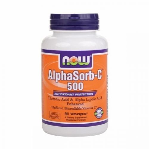 NOW Alphasorb-C 500mg 90vegan caps | Familypharmacy.gr