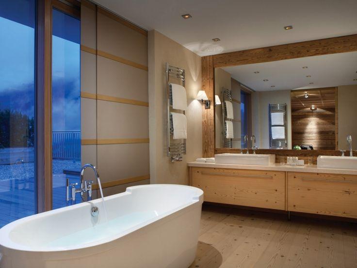 Badezimmer in Penhouse Wohnung im Luxushotel in Jochberg Tirol