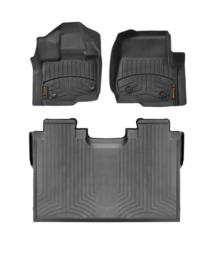 Tecoom All Weather Waterproof Floor Mats Front and Rear 2