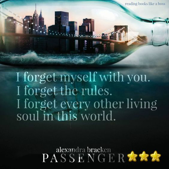Passenger (Passenger, Book #1) Alexandra Bracken No es mi tipo de género, ciencia ficción-fantasía. Me costó trabajo leerlo porque su historia principal no es algo que me llame la atención. Cuando...