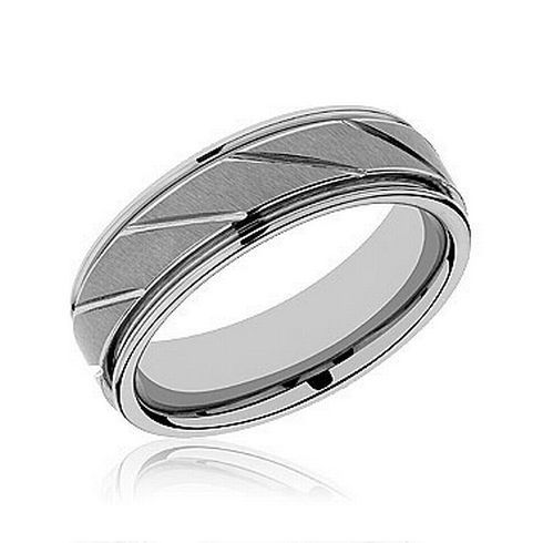 TRITON Tungsten Carbide Band 7mm - Item 11-2215C-G | REEDS Jewelers