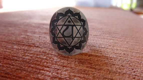 heart chakra ring for love joy and inner by IndiejewelsShop