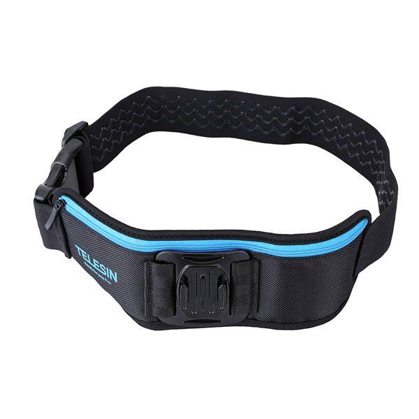 TELESIN Adjustable Waist Strap Belt With Pocket For Gopro Hero 1 2 3 4 3 Plus SJCAM SJ4000 Xiaomi Yi