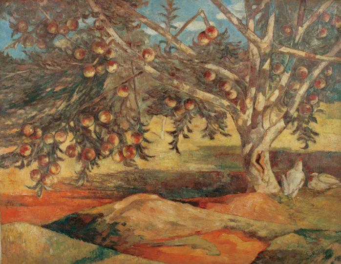 Apple tree_1942 oil on canvas_91 x 116.5cm lee insung