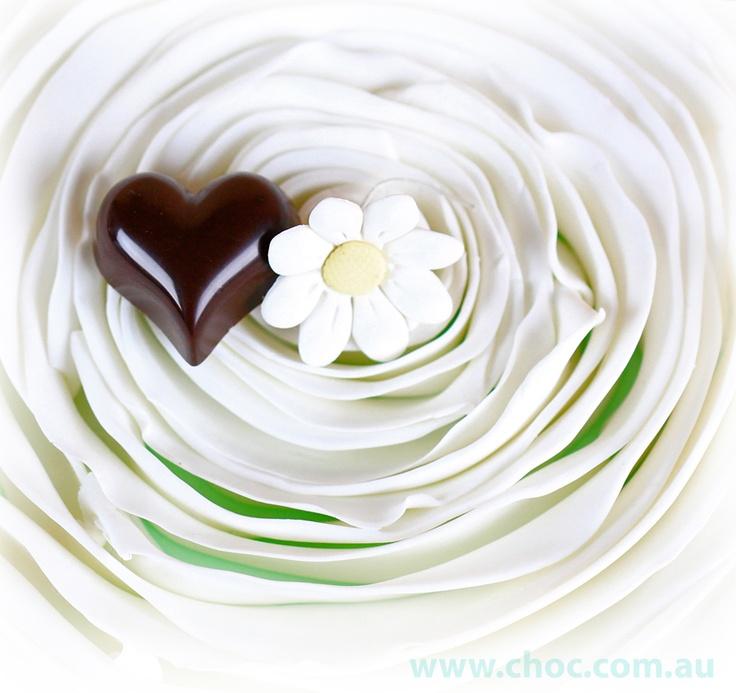 White wedding and chocolates  Fardoulis Chocolates  www.choc.com.au