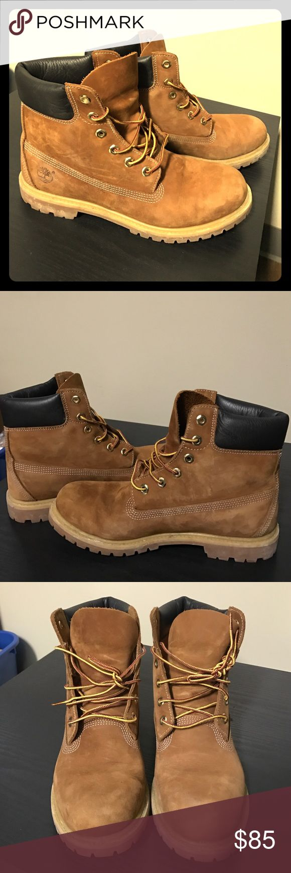 Women's 6-inch premium waterproof boots Rust nubuck, slight wear but still in great condition, great for winter! Timberland Shoes