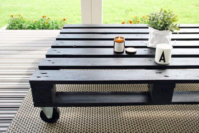 Koti Aurorassa: Diy // Terassin pöytä kuormalavasta