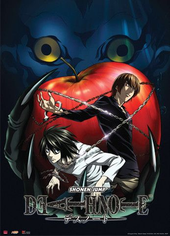 Death Note Ryuk, Light, L & Apple Wall Scroll – Ravenshire Hobby