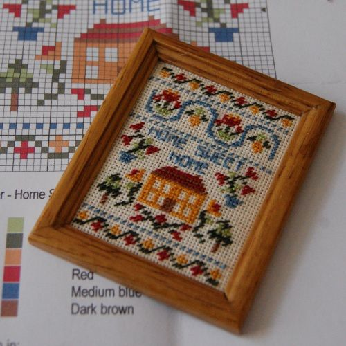 There's a review of my Home Sweet Home dollhouse sampler kit in Dolls house and Miniature Scene magazine this month, August 2017