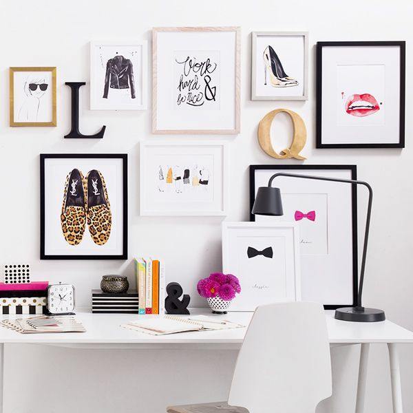 favourite board. fashion inspired. black and gold. monogrammed block capital letters. #StyleYourWall