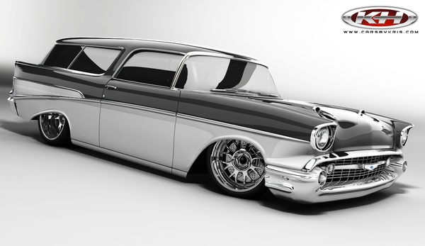 57 Nomad rendering, Station Wagons can be cool too!