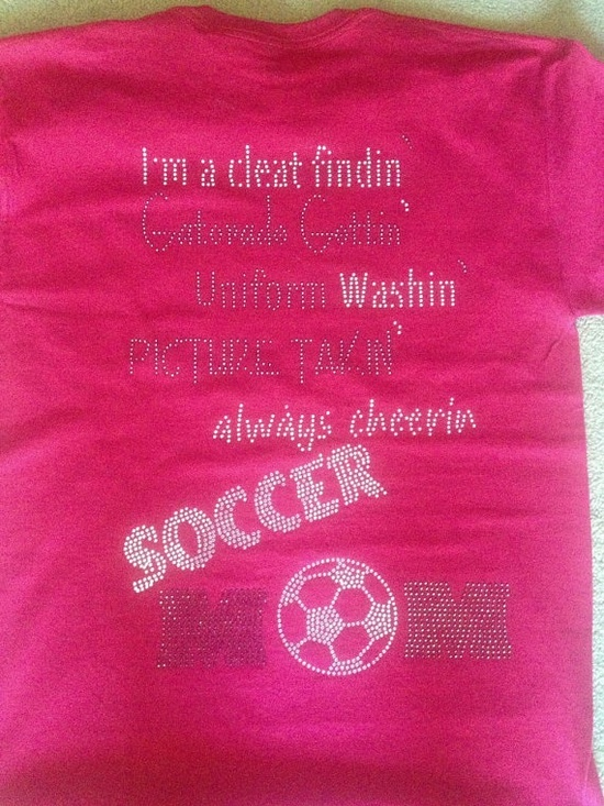 Being a soccer mom!! I need this shirt for sure!