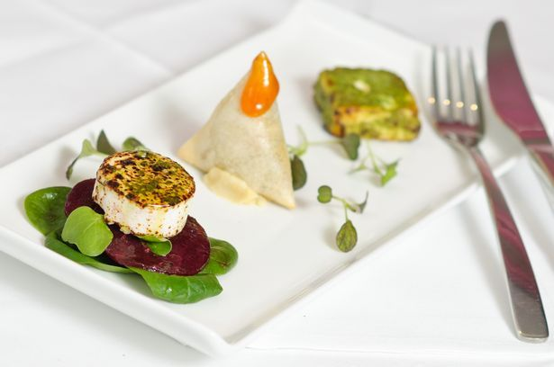 Caws Aur, centre, as part of a trio with Paneer and goats cheese