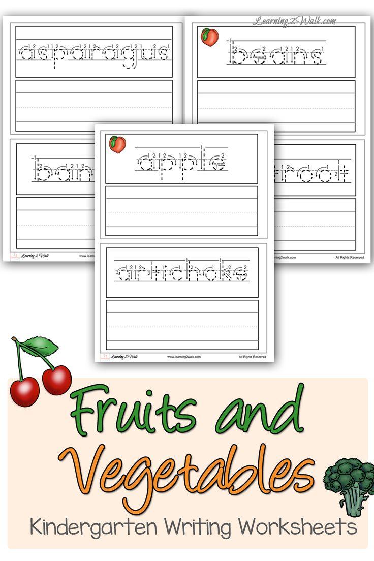 Unit study colors preschool - Fruits And Vegetables Kindergarten Writing Worksheets Preschool Writingkindergarten Activitiesmotor