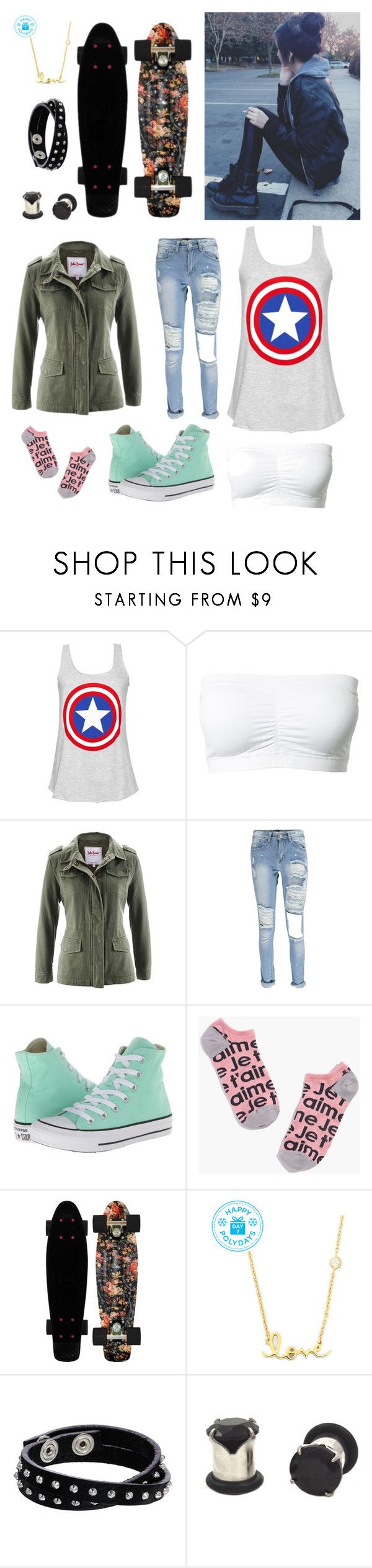 """Danny Smith"" by nationalnerd ❤ liked on Polyvore featuring Magic, Boohoo, Converse, Madewell, Sydney Evan and Diesel"