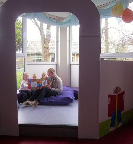 Nieuwe leeshoek in kinderdagverblijf Ootje Tontel