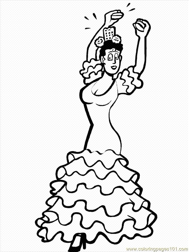 coloring pages dancing1 (1) (entertainment > dancing