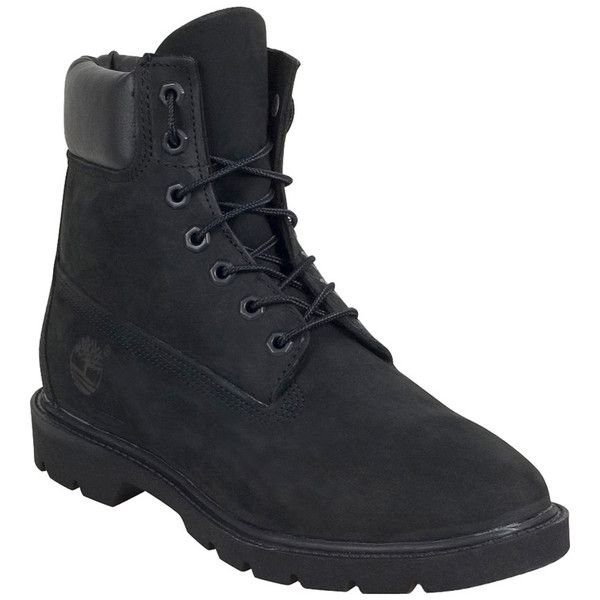 Timberland Men's 6-Inch Basic Boot ($150) ❤ liked on Polyvore featuring men's fashion, men's shoes, men's boots, men's work boots, black, mens work boots, mens black lace up boots, timberland mens boots, mens lace up boots and mens black work boots