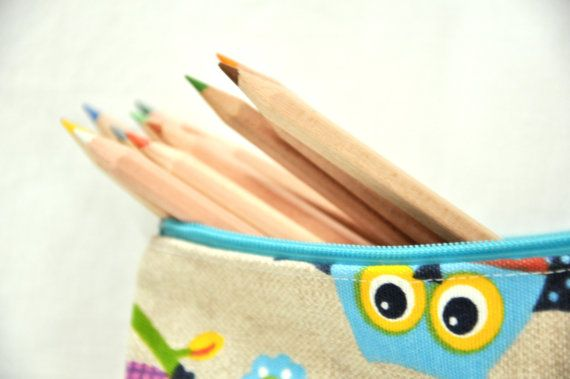 pencil case for children and adults zipper by manufattofattoamano, $14.00