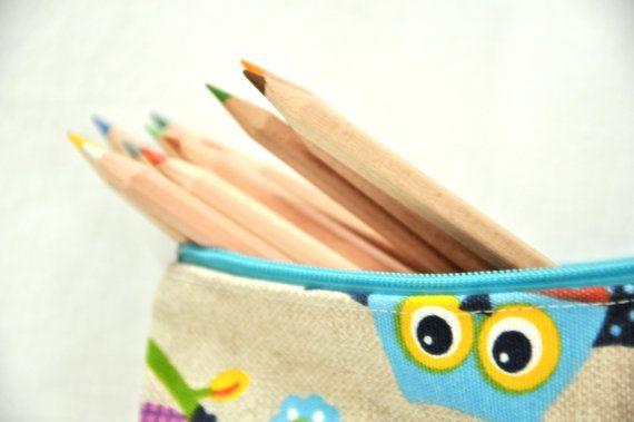 pencil case for children and adults zipper by manufattofattoamano, $14.00