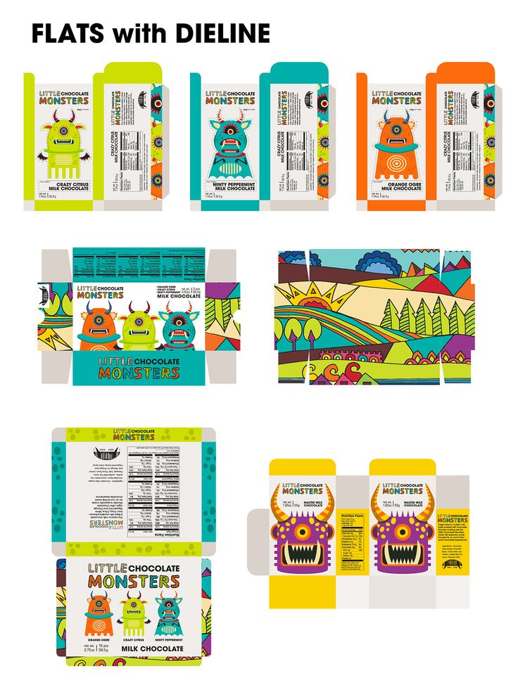 Project done for Intro to Packaging Class at The Art Institute of California - San Francisco.LITTLE CHOCOLATE MONSTERS brand identity is created to be enjoyed by children and adults who are kids at heart. Quirky characters and handmade logotype brings e…