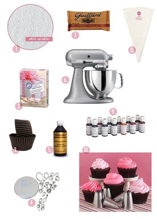 the top 10 supplies for baking the best cupcakes ever!